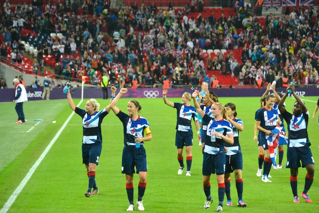England women's football Team in olympics
