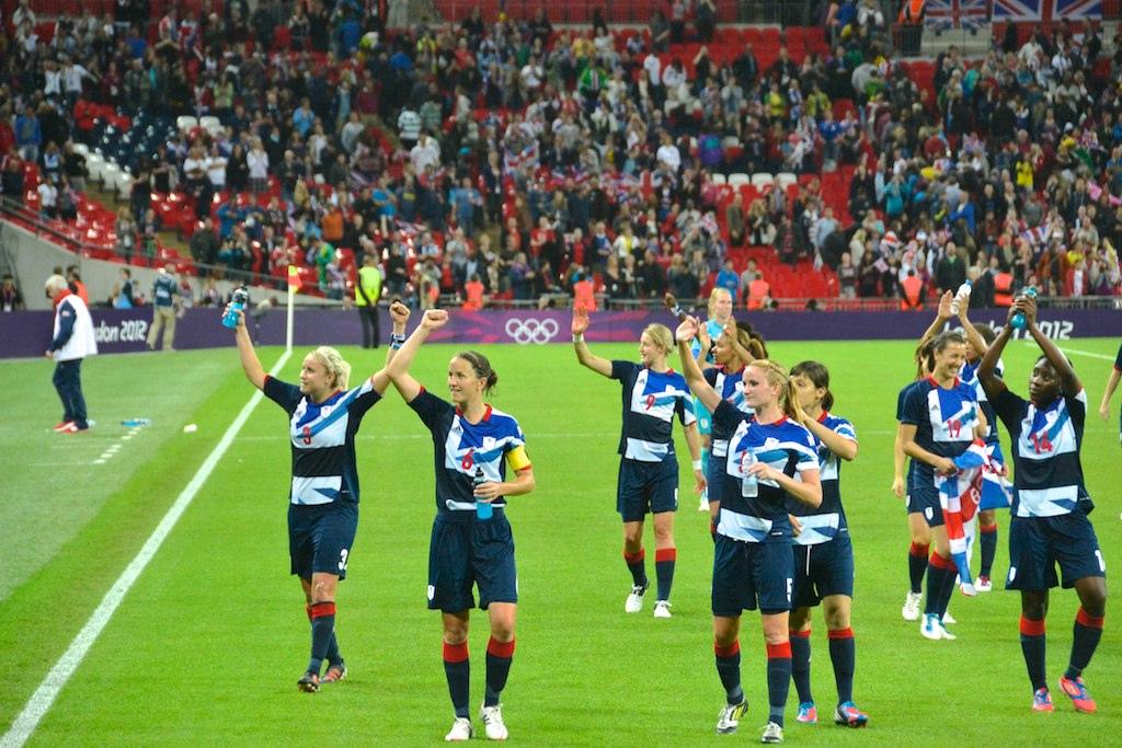 England women's football Team in olympics