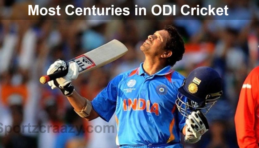 Most Centuries in ODI Cricket