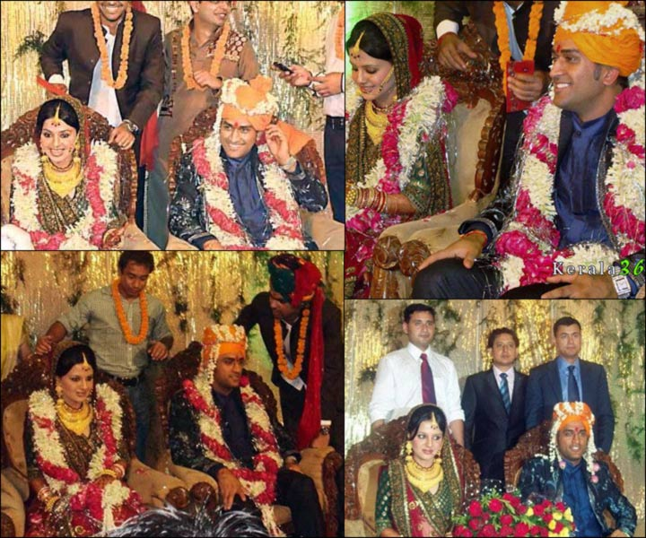 ms dhoni and sakshi marriage