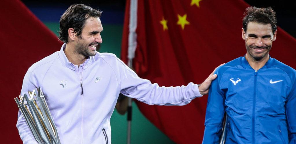 Federer with Nadal