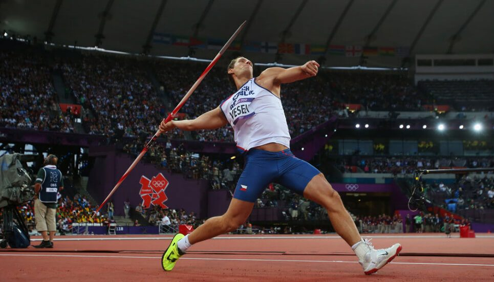 Javelin throw Olympics record