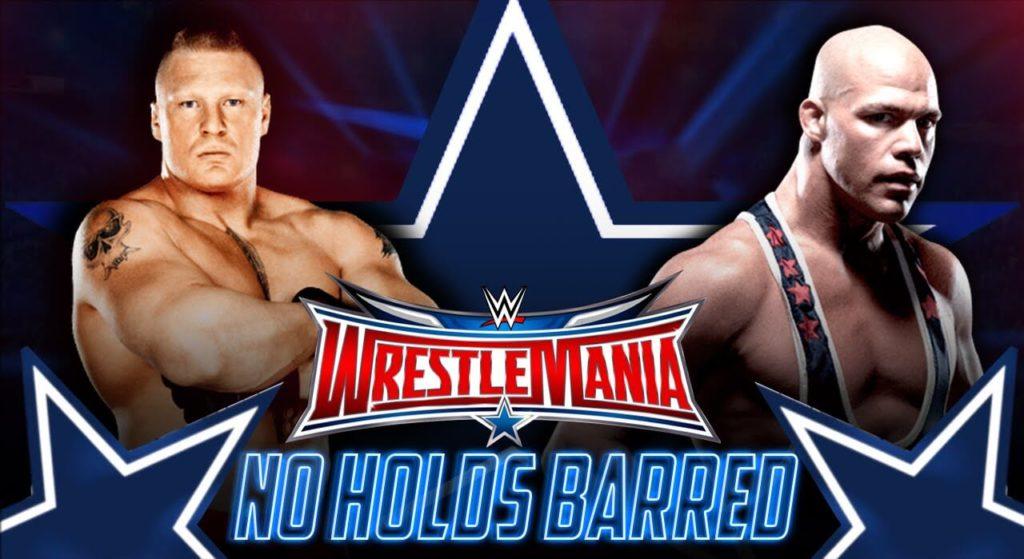 Kurt Angle and Brock Lesnar