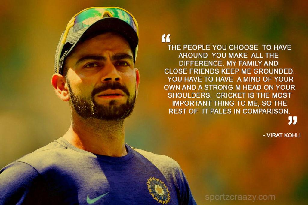 Virat Kohli Cricket Sayings