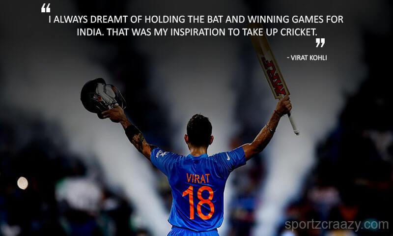 Virat Kohli Sayings
