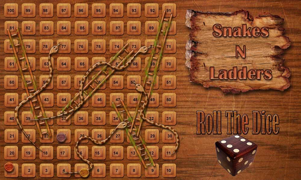 snake and ladder game dice