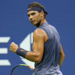 Rafael Nadal reacts after Nick Kyrgios impersonates him at Australian Open