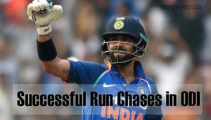 Successful Run Chases in ODI Cricket
