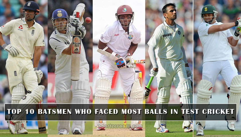 top 10 batsmen who faced most balls in test cricket