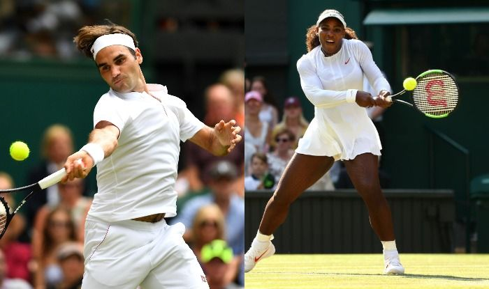 Serena Williams and Roger Federer Images