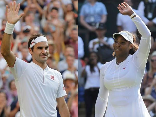 Serena Williams and Roger Federer Pictures