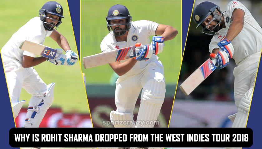 Why is Rohit Sharma dropped from the West Indies tour 2018