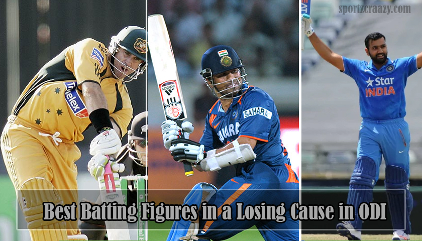 Best Batting Figures in a Losing Cause in ODI