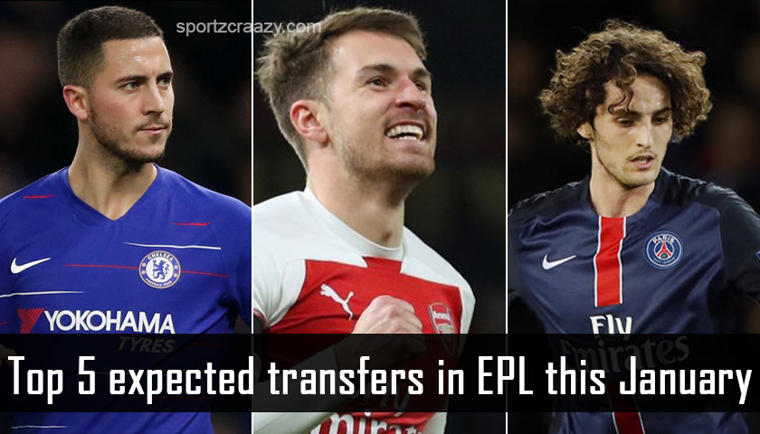 Top 5 Expected Tansfers in EPL This January