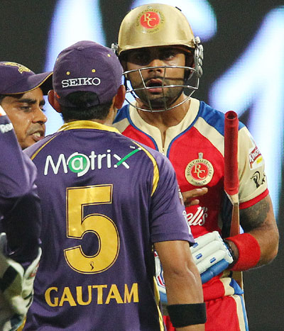 Virat Kohli and Gautam Gambhir fight