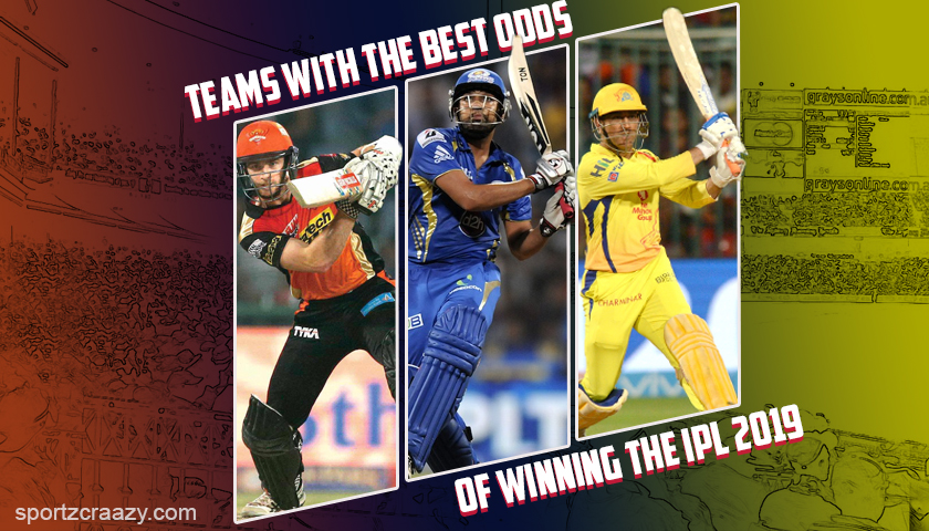 Teams with the Best Odds of Winning the IPL 2019