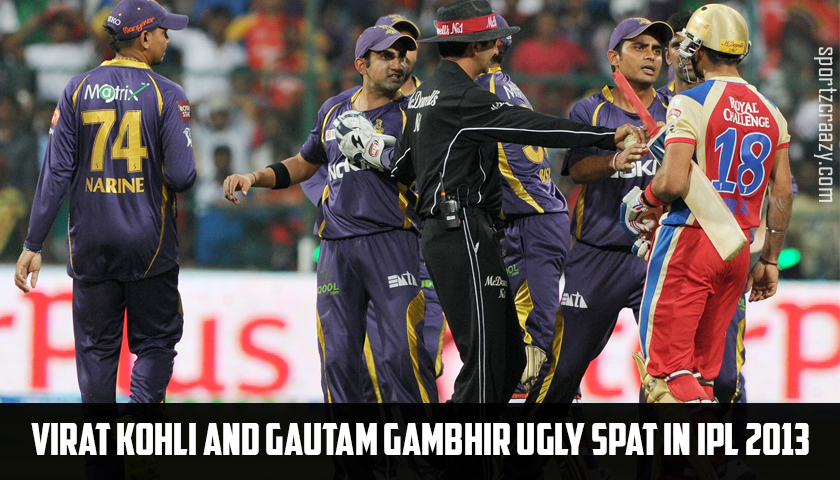 Virat Kohli and Gautam Gambhir