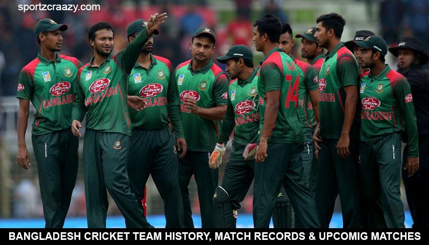 Bangladesh Cricket Team Team History Upcoming Fixtures
