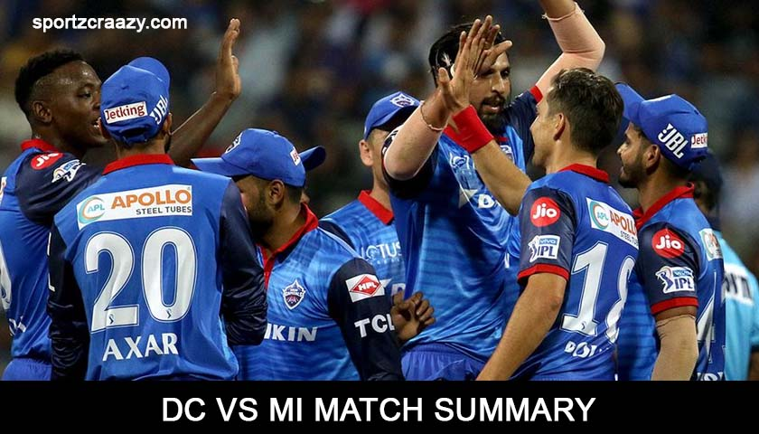 DC Vs MI Match Summary