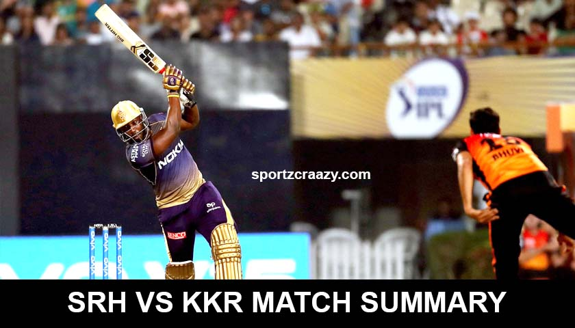 KKR VS SRH MATCH SUMMARY