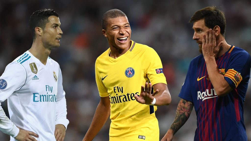 Kylian Mbappe Comparison with Ronaldo and Messi