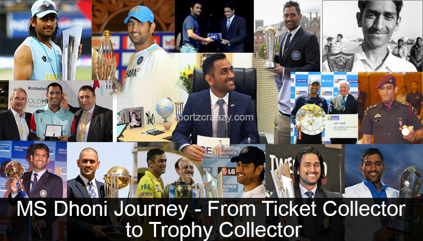 MS Dhoni Journey - From Ticket Collector to Trophy Collector