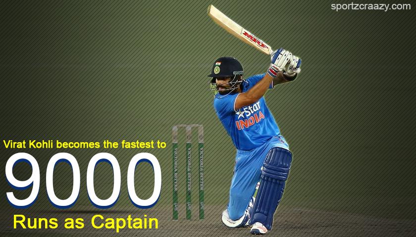 Virat Kohli becomes the fastest to 9000 international runs as Captain