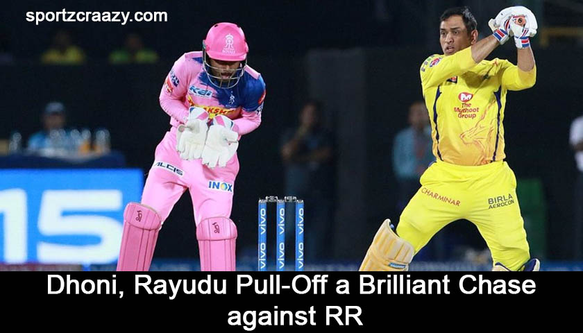 Dhoni, Rayudu Pull-Off a Brilliant Chase