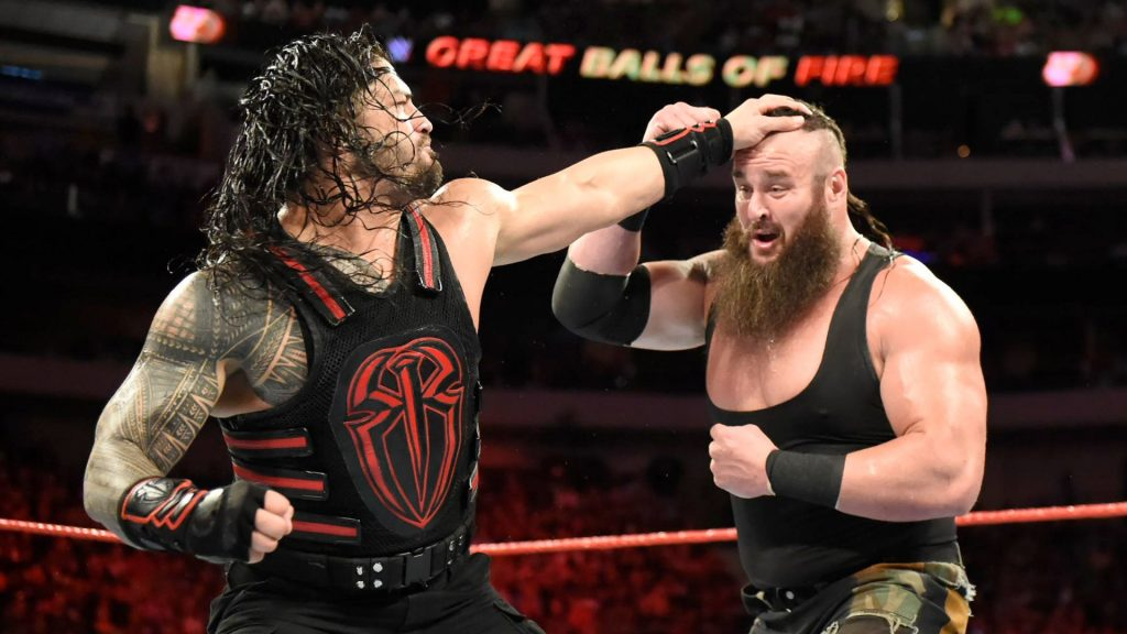 braun strowman fighting in wwe