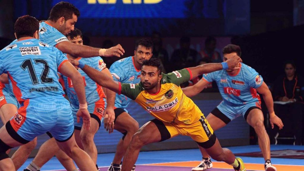 rahul  in pro kabaddi league