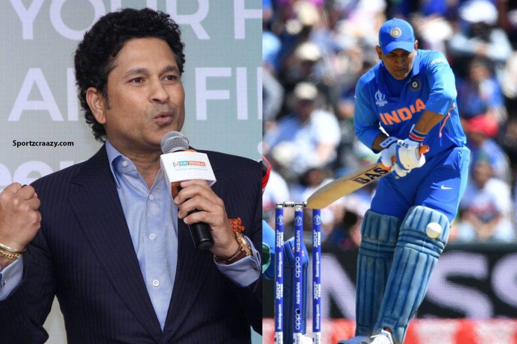 Sachin Tendulkar Slams MS Dhoni