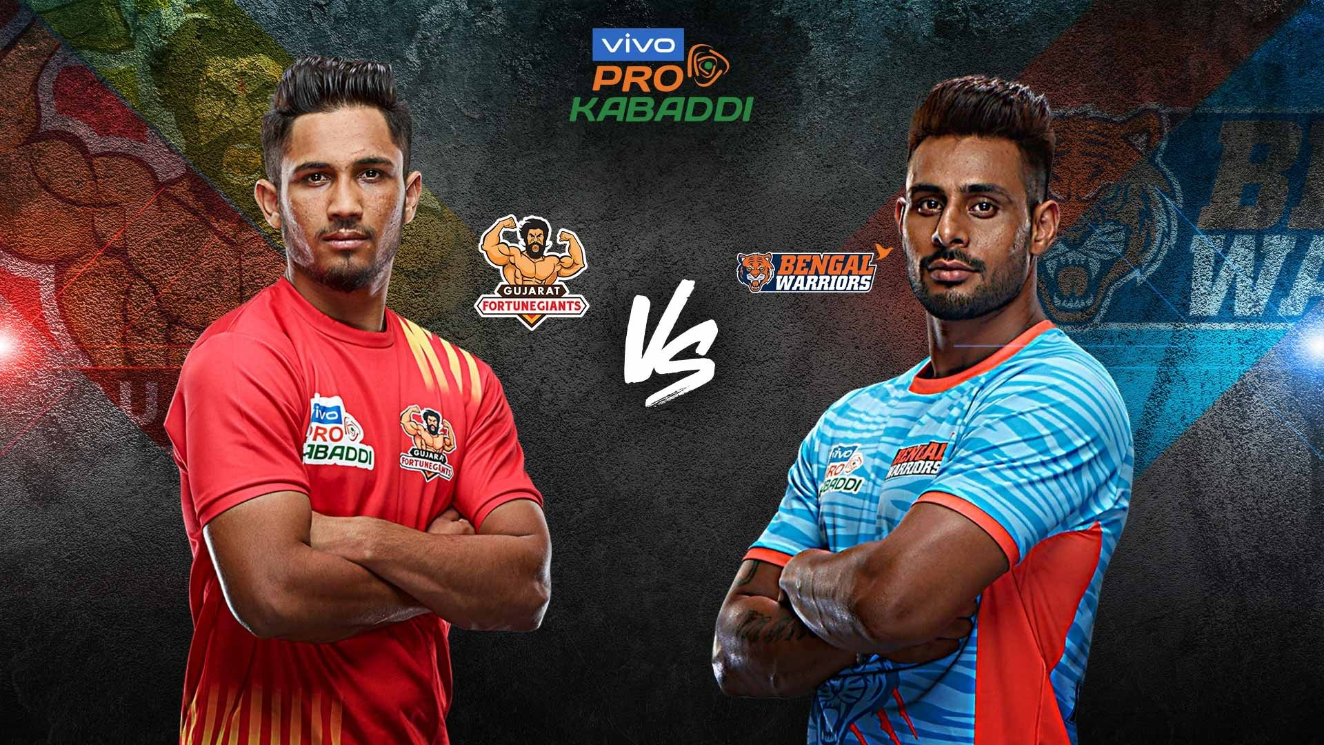 Bengal Warriors vs Gujarat Fortunegiants Match photos