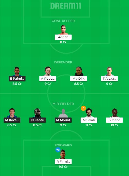 CHE vs LIV Dream11