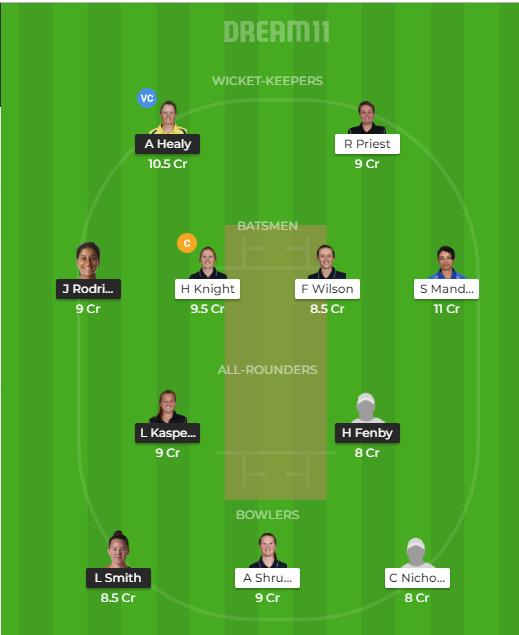 YD vs WS Dream11 Team