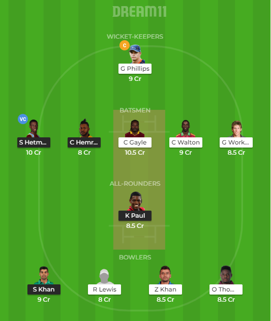 GUY vs JAM Dream11