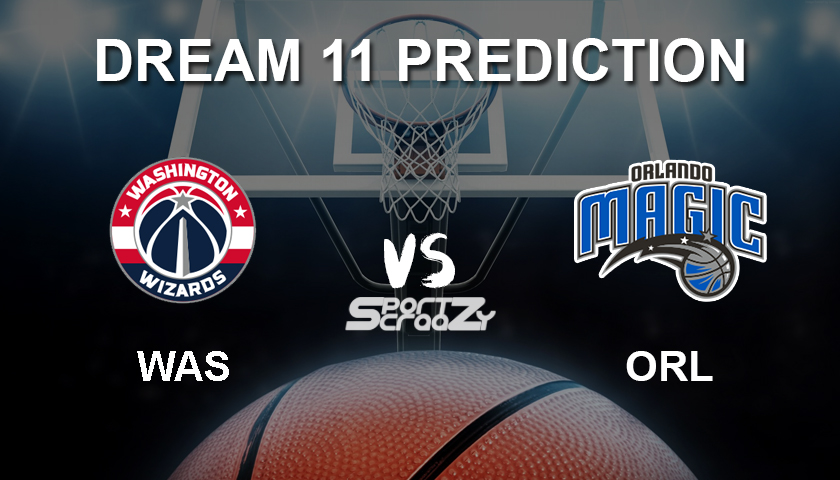 WAS vs ORL Dream11 Prediction, Live Score & Washington Wizards vs Orlando  Magic Basketball Match Lineup: NBA 2019-20 Regular Season