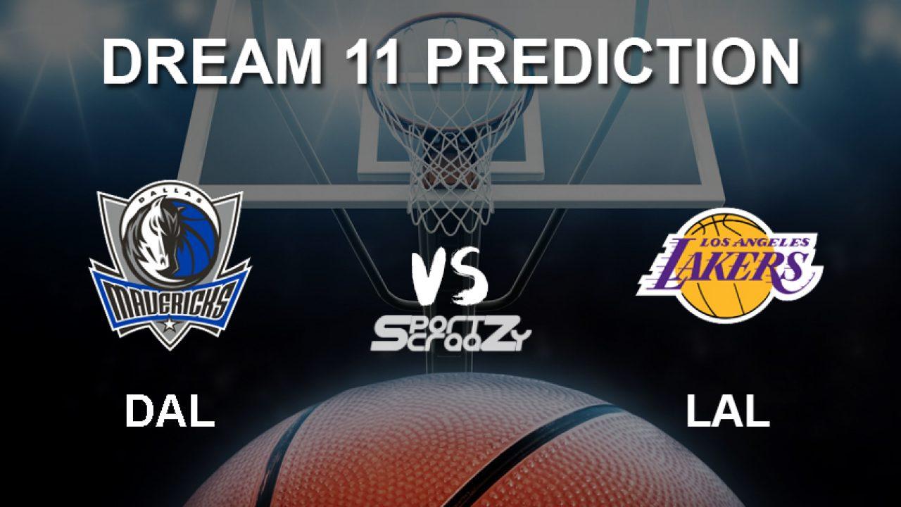 Dal Vs Lal Dream11 Prediction Live Score Dallas Mavericks