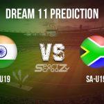 IN-U19 vs SA-U19 Dream11 Prediction, Live Score & India-U19 vs South Africa-U19 Cricket Match Dream11 Team: Quadrangular U19 series
