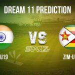IN-U19 vs ZIM-U19 Dream11 Prediction, Live Score & India-U19 vs Zimbabwe-U19 Cricket Match Dream11 Team: ICC U-19 World Cup Warmup Matches