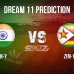 IN-Y vs ZIM-Y Dream11 Prediction, Live Score India U-19 vs Zimbabwe U-19 Cricket Match Dream11 Team: Quadrangular Under-19 Series Match 3