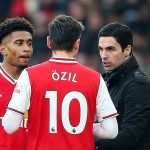Arsenal Boss Mikel Arteta Praises Mesut Ozil after a win over Manchester United