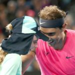 Rafael Nadal mistakenly hits a ball girl in head, apologizes with a kiss