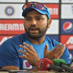 Rohit Sharma gives a pep talk to struggling Mumbai team