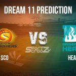 SCO vs HEA Dream11 Prediction, Live Score & Perth Scorchers vs Brisbane Heat Cricket Match Dream Team: Big Bash League 2019-20, Match- 32
