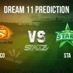 SCO vs STA Dream11 Prediction, Live Score & Perth Scorchers vs Melbourne Stars Cricket Match Dream Team: Big Bash League 2019-20, Match- 38