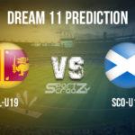 SL-U19 vs SCO-U19 Dream11 Prediction, Live Score & Sri Lanka U19 vs Scotland U19, Cricket Match Dream11 Team: ICC U19 World Cup