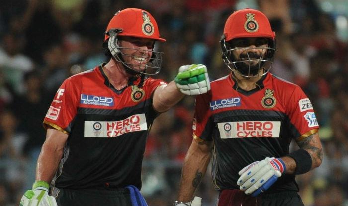 Virat Kohli and de Villiers