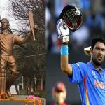 Yuvraj Singh honored with life-size statue in Ferozpur for his contribution to Indian Cricket Team