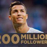 Cristiano Ronaldo reaches 200 million followers on Instagram