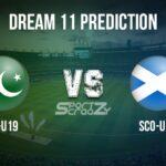 PAK-U19 vs SCO-U19 Dream11 Prediction, Live Score & Pakistan U19 vs Scotland U19, Cricket Match Dream11 Team: ICC U19 World Cup
